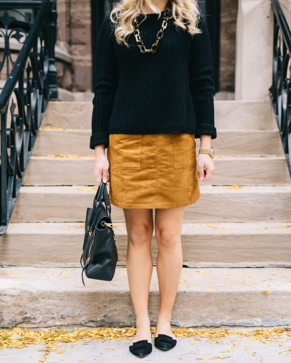 fall-outfit-suede-skirt