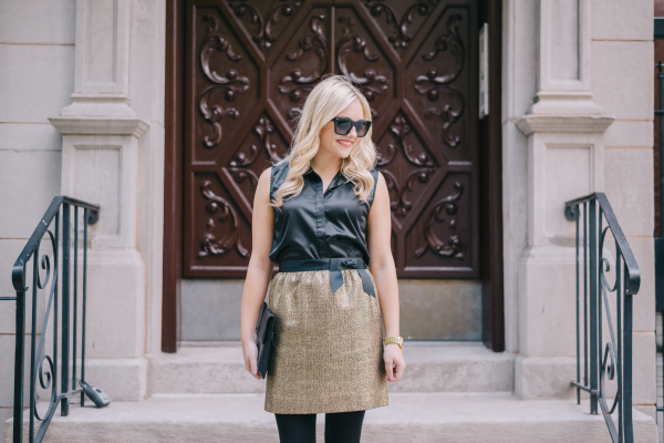 gold-tweed-skirt