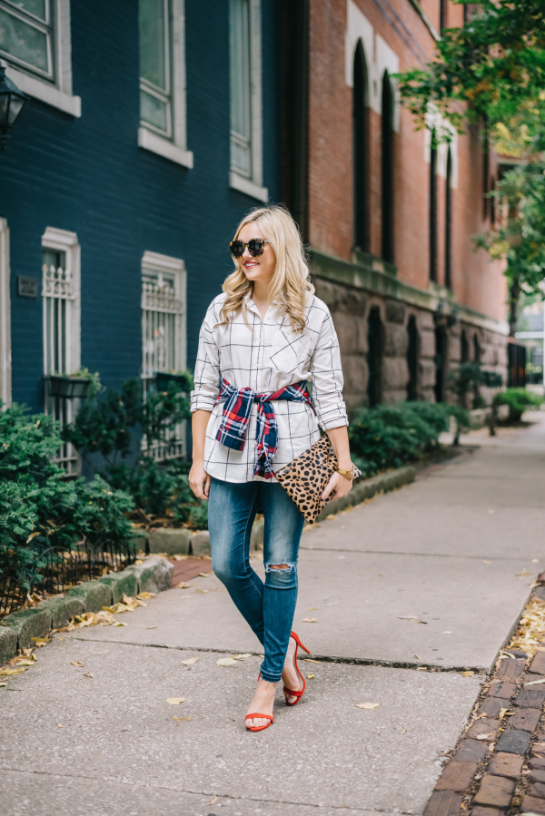 how-to-wear-plaid-in-the-fall-outfit