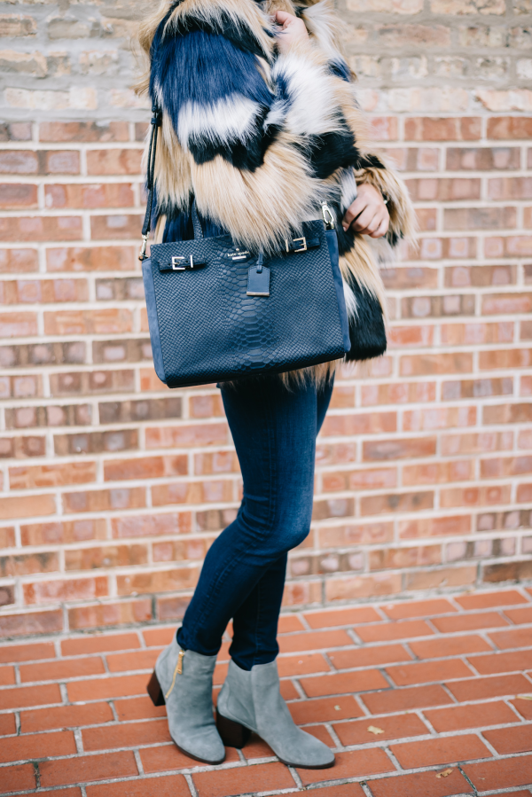 multicolor-patchwork-fur-jacket,-navy-blue-handbag,-grey-tommy-hilfiger-booties