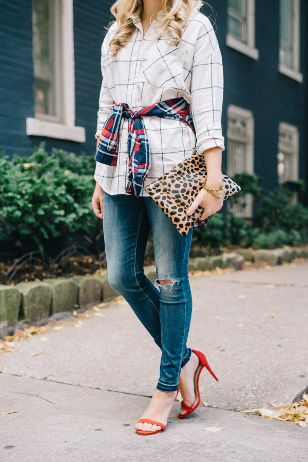 plaid-and-leopard-pattern-mixing-fall-outfit