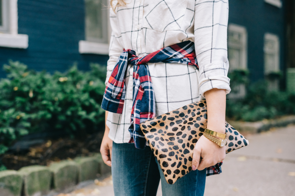 plaid-button-front-shirt-leopard-calf-hair-clare-v-clutch