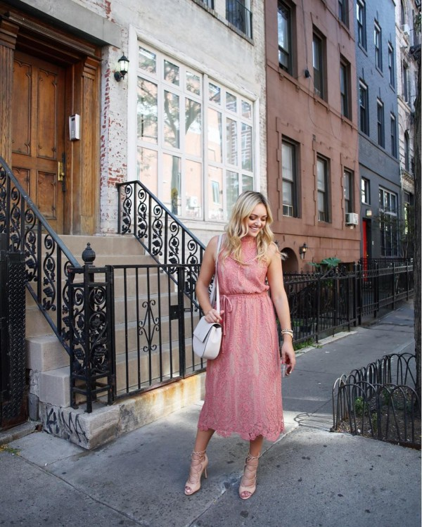 This pretty pink dress that I wore during NYFW ishellip