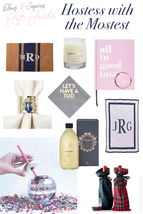 Best Hostess Gift gift guide: hostess with the mostest — bows & sequins