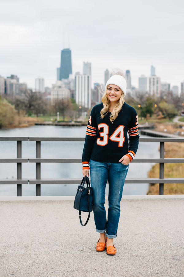 2f7aa88d chicago bears jersey sweater — bows & sequins