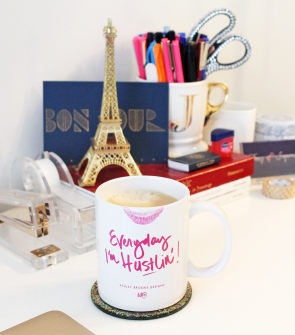 everyday im hustlin lipstick on mug