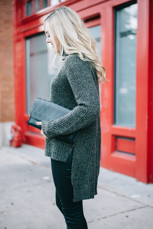 express high low sweater