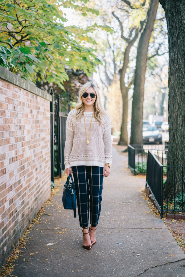 fall-work-outfit-with-fair-isle-trousers