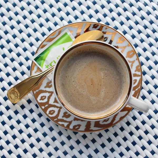 gold rim cappuccino cup