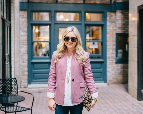 jcrew-pink-blazer,-karen-walker-super-duper-tortoise-sunglasses