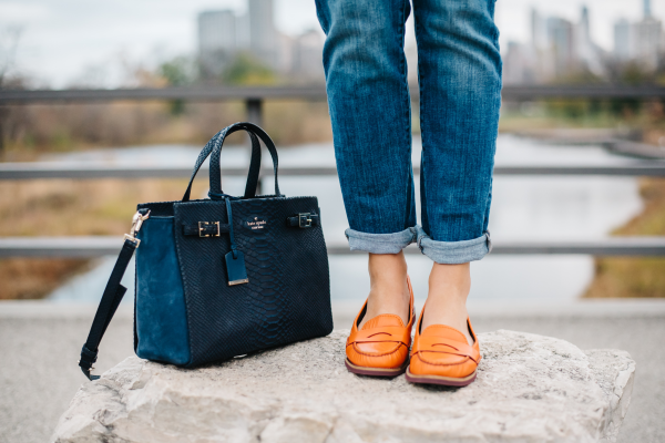kate spade handbag cole haan loafers