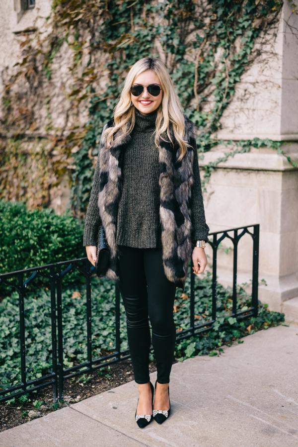 patchwork faux fur