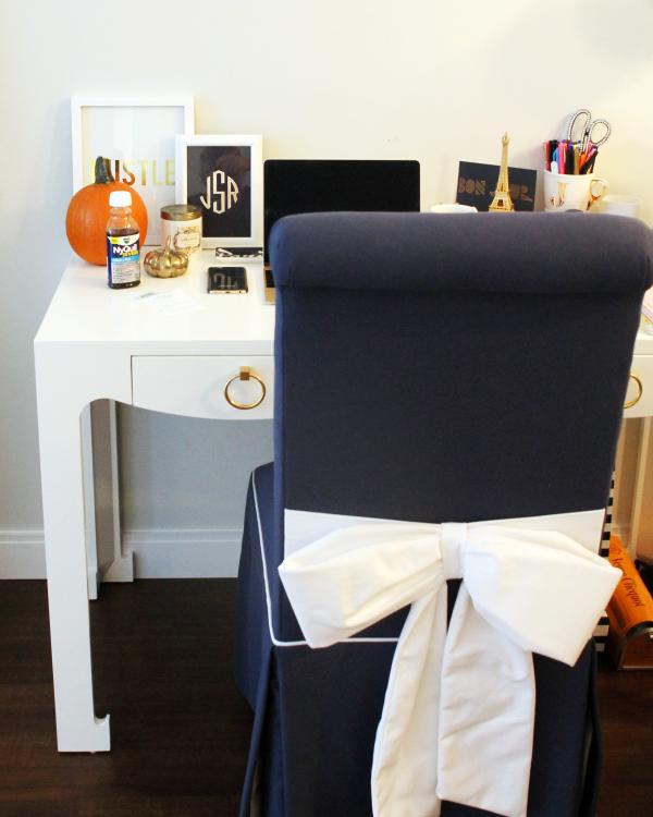 society social bow back piper chair navy white