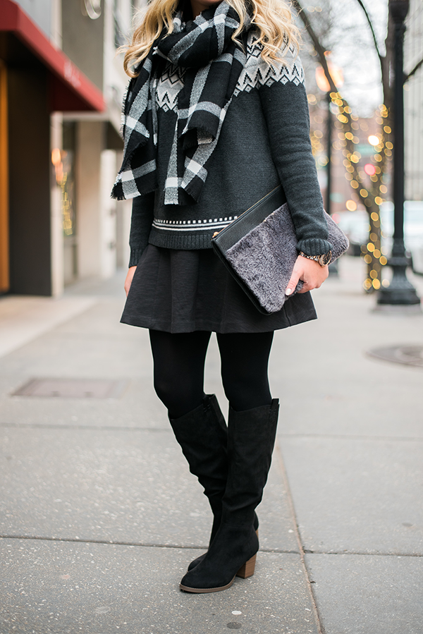 black slouchy suede knee boots