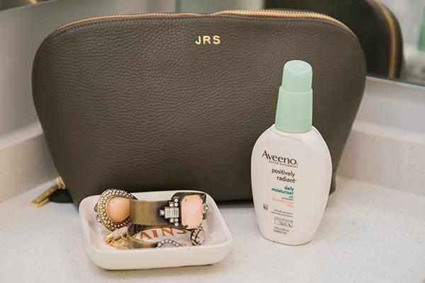 Cuyana Monogrammed Cosmetic Bag