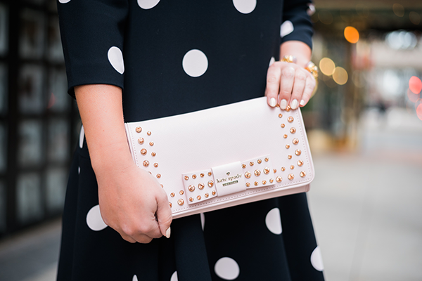 pink bow clutch