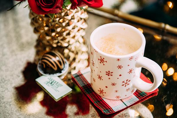 snowflake mug plaid tartan coaster christmas