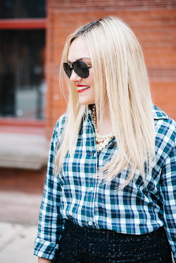 womens plaid shirt