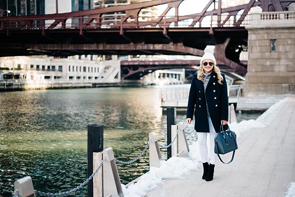 chicago riverwalk winter