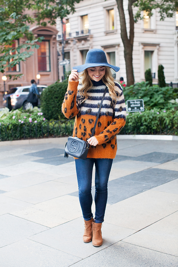 cute orange and blue outfit tailgating illni