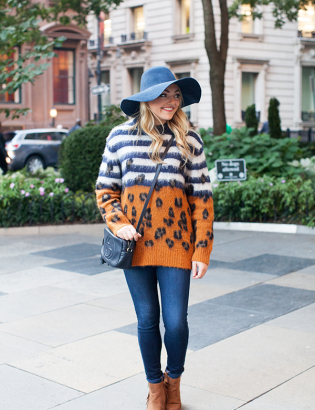 fall outfit weekend with a hat