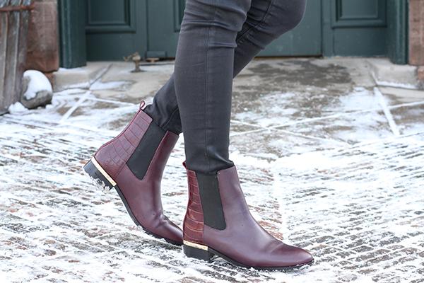ivanka trump maroon ankle boots burgundy