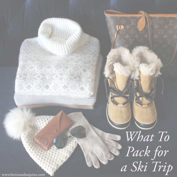 ski trip packing guide