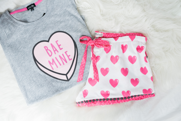 bae mine candy hearts pjs