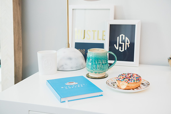 coffee donuts desk