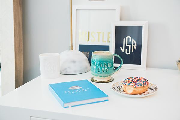 coffee donuts desk