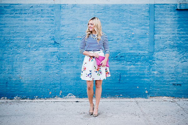 spring outfit print mixing