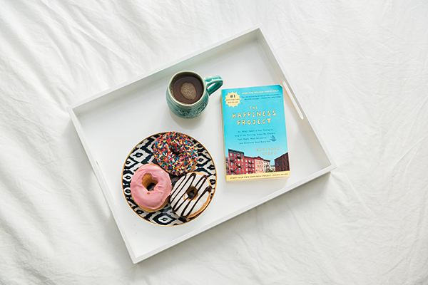 sprinkles donuts coffee happiness project breakfast in bed