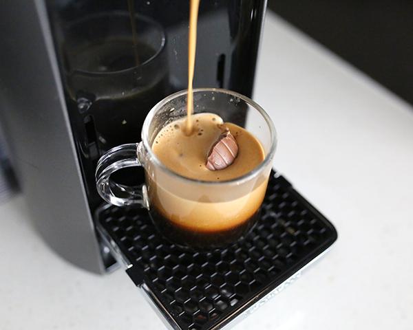 espresso shot with chocolate