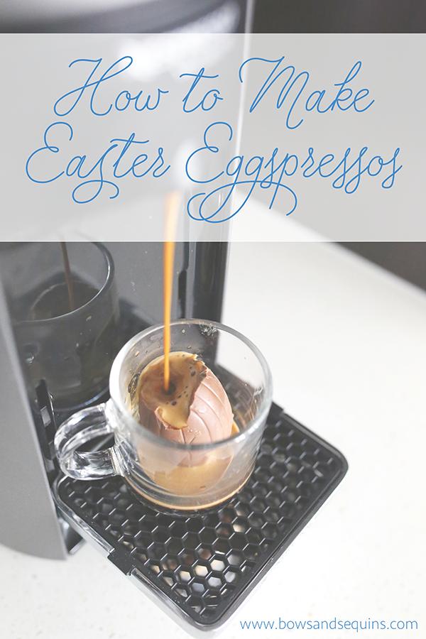 how to make easter eggspressos chocolate eggs with espresso coffee shot
