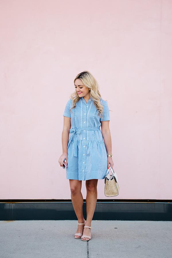 kate spade blue striped dress