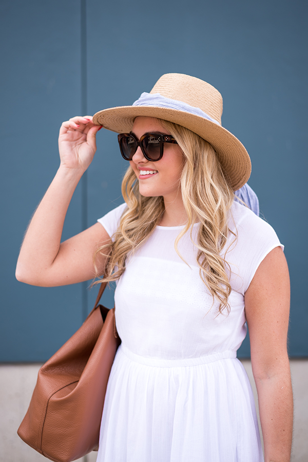 tie a scarf on your straw hat