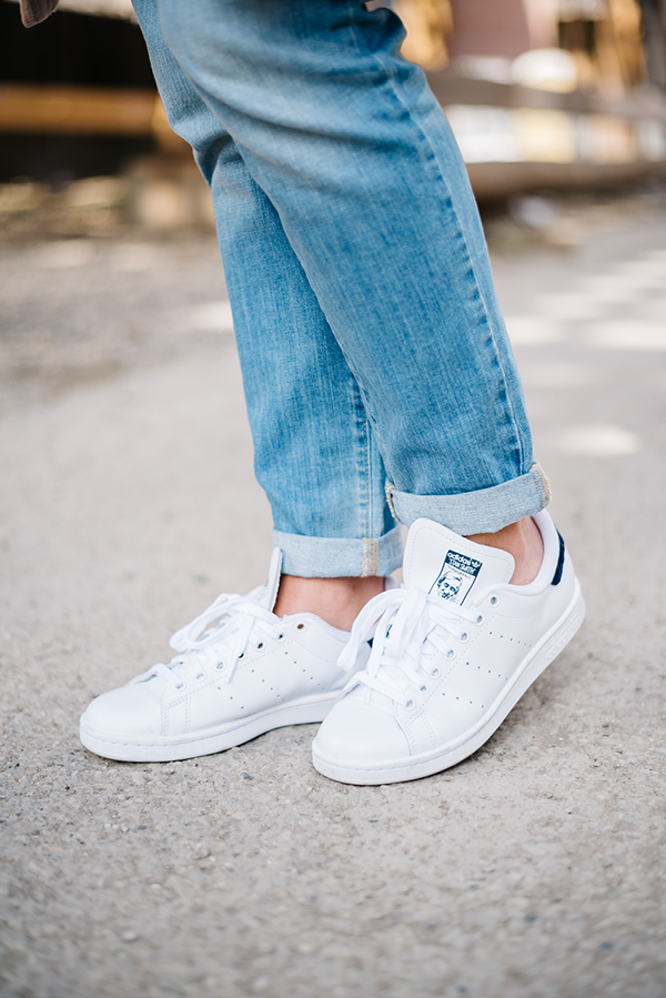 womens blue stan smiths