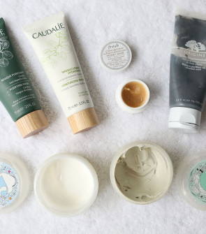Best Face Masks - Caudalie Purifying Mask, Caudalie Moisturizing Mask, Fresh Honey Mask, Origins Clear Improvements Charcoal Mask, Glossier Mega Greens Galaxy Pack Detox Mask, Glossier Moisturizing Moon Mask