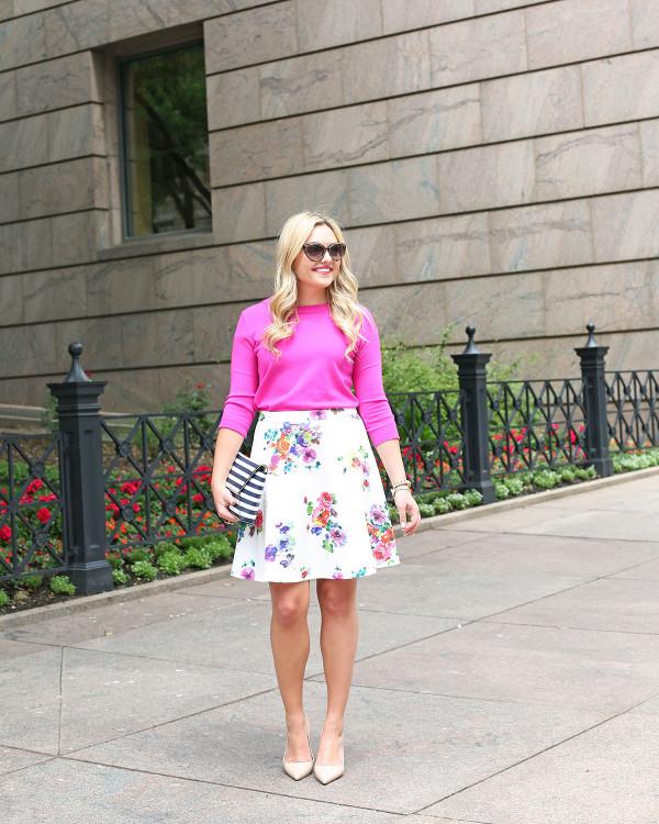bows & sequins floral skirt evine live