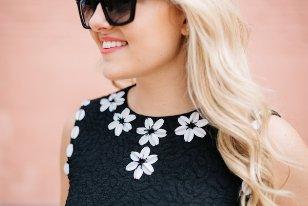 draper james dress with white embellished flowers