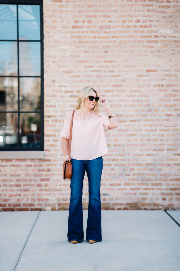 flared jeans outfit ideas