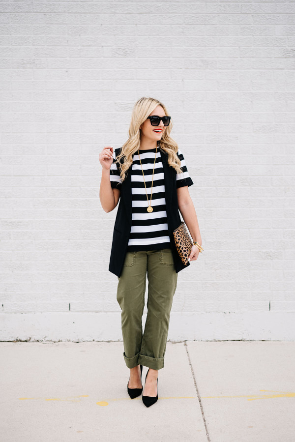 how to wear boyfriend chino pants outfit