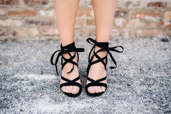 black tie-up sandals ivanka trump kiernan