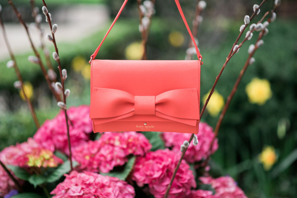 kate spade coral bag with a bow clement street francie