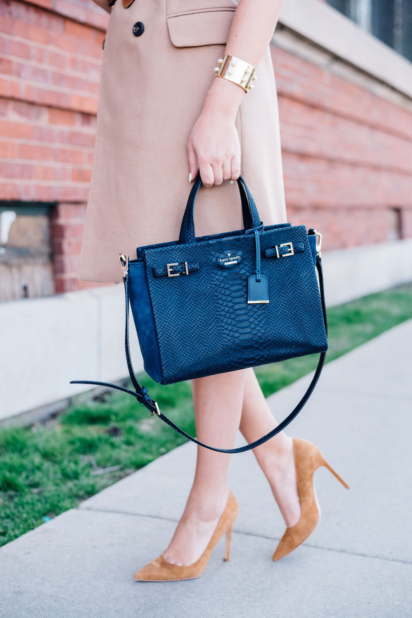 kate spade navy blue handbag