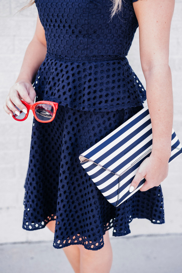 red white and blue outfit accessories