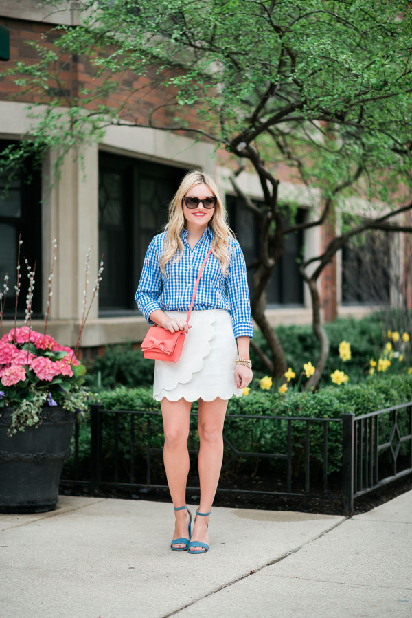 spring outfit ideas white skirt