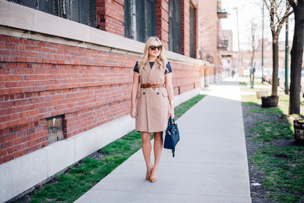 spring work outfit with a vest