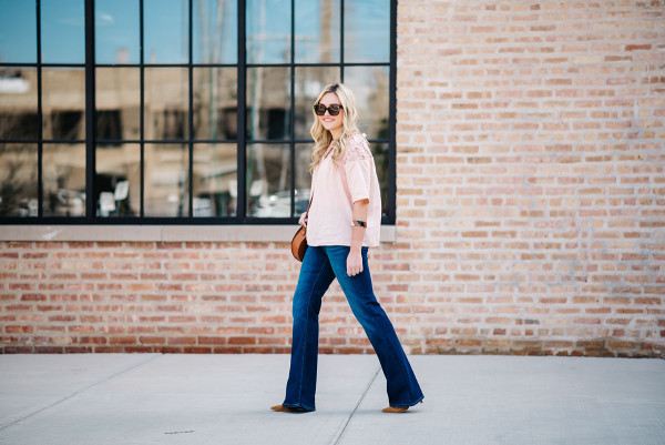 what to wear with flare jeans