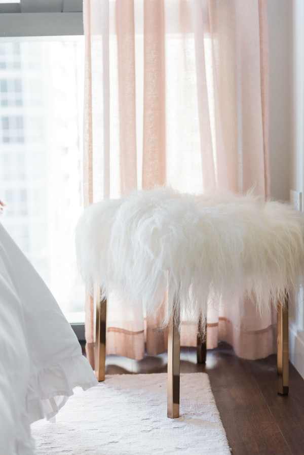My Chicago Bedroom // Parisian Chic, Blush Pink — bows